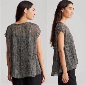 Eileen Fisher | Firefly Printed Crinkle Silk Top